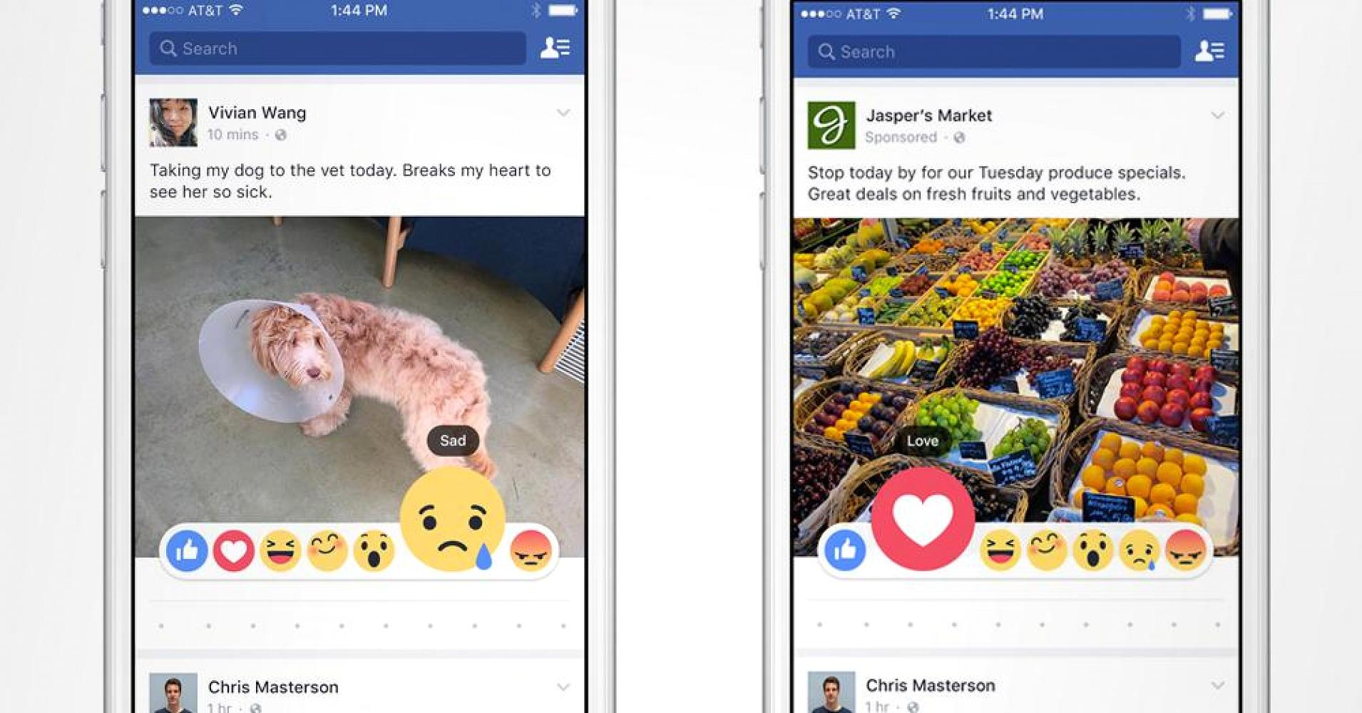 Facebook Reactions Comparison