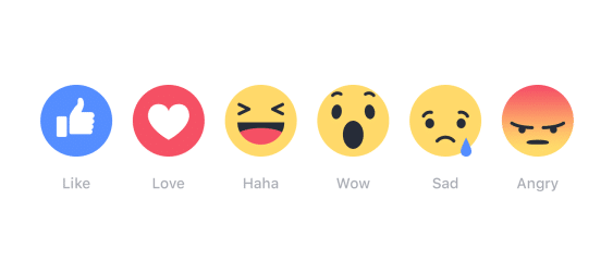 Facebook Reaction Icons