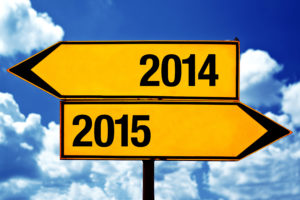 2014 or 2015, opposite signs