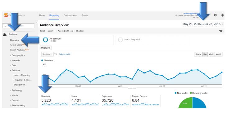 Vici Google Analytics page 3