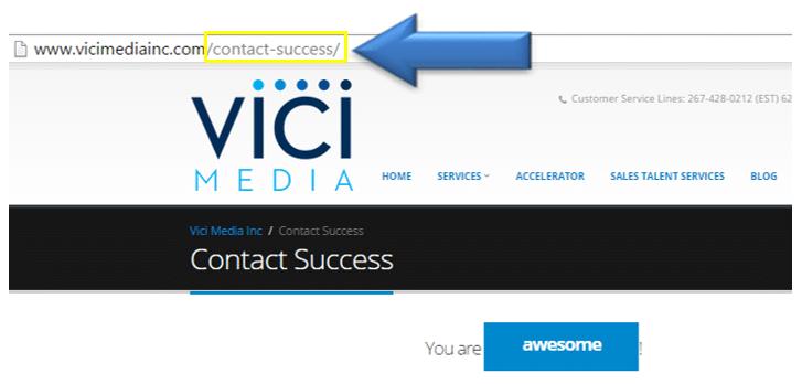Vici conversion URL