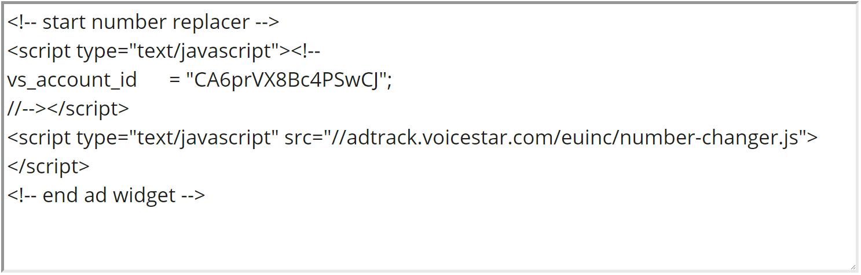 Call Tracking JavaScript