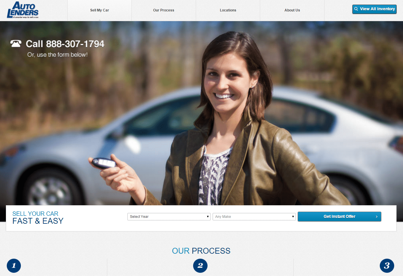 AutoLenders Landing Page