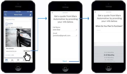 Facebook Car Lead Ad