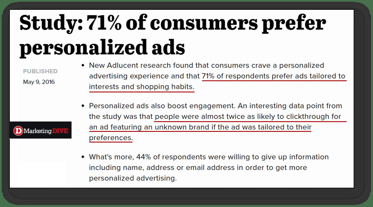 Consumers Prefer Personalized Ads Vici Media
