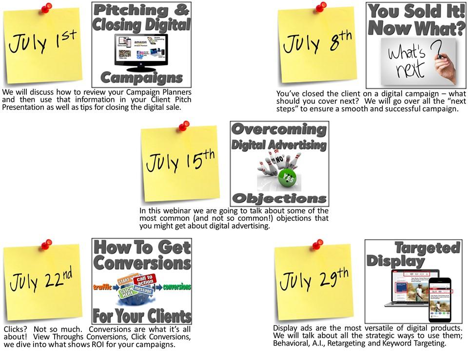 July webinar